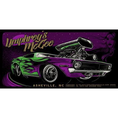 Umphrey's Mcgee Jeff Wood Asheville 2017 Poster