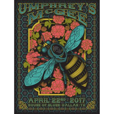 Umphrey's Mcgee Dallas 2017 Poster by Derek Hatfield