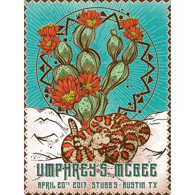 Umphrey's Mcgee Austin 2017 Poster by Derek Hatfield