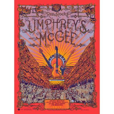 Umphrey's Mcgee Red Rocks Augmelted Reality Poster