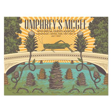 Umphrey's Mcgee New York Central Park Poster by Status Serigraph