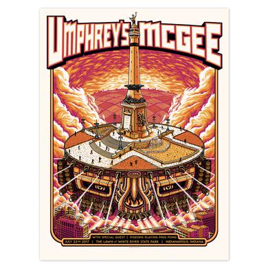 Umphrey's Mcgee Indianapolis White River Print by Pete Schaw