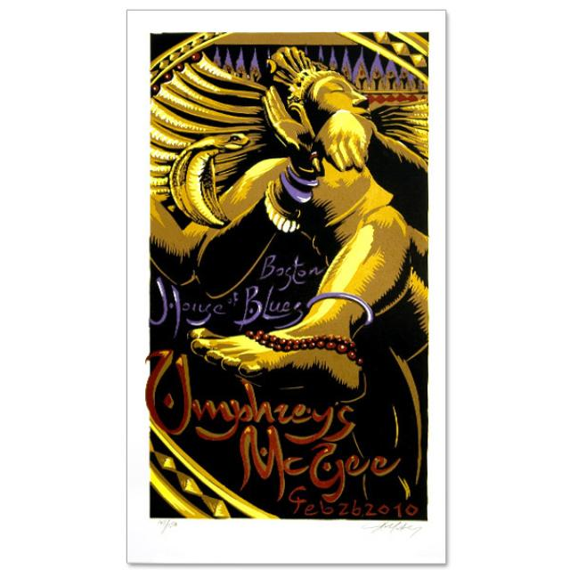 Umphrey's Mcgee AJ Masthay HOB Boston Poster
