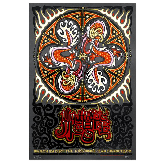 Umphrey's Mcgee Jeff Wood San Francisco Fillmore 2011 Print