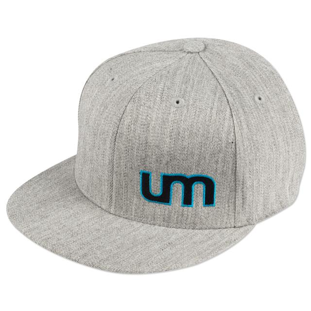 Umphrey's Mcgee UM Heather Gray Logo Flat Brim Cap