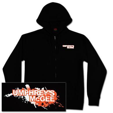 Umphrey's Mcgee UM Splatter Design Zip Up Hoodie