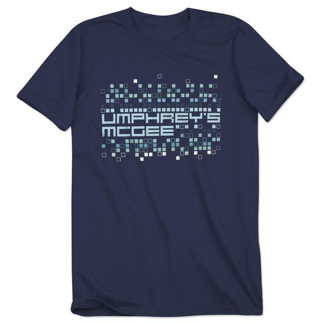 Umphrey's Mcgee Men's Pixelated Blue Tee