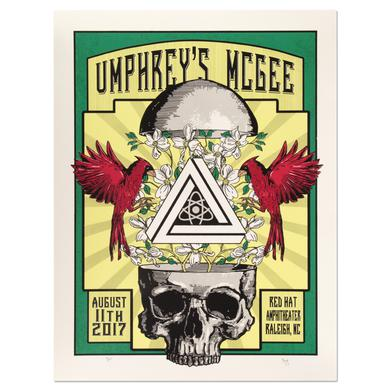 Umphrey's Mcgee Red Hat Amphitheater Raleigh Poster by Brian Bojo