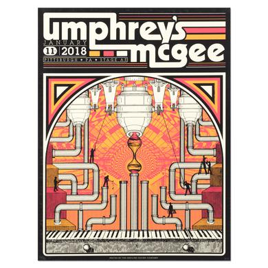 Umphrey's Mcgee Stage AE Pittsburgh 2018 Poster by Nicolas Bogdal