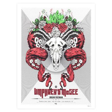 Umphrey's Mcgee The Wiltern 2018 Poster by Ryan Guimond