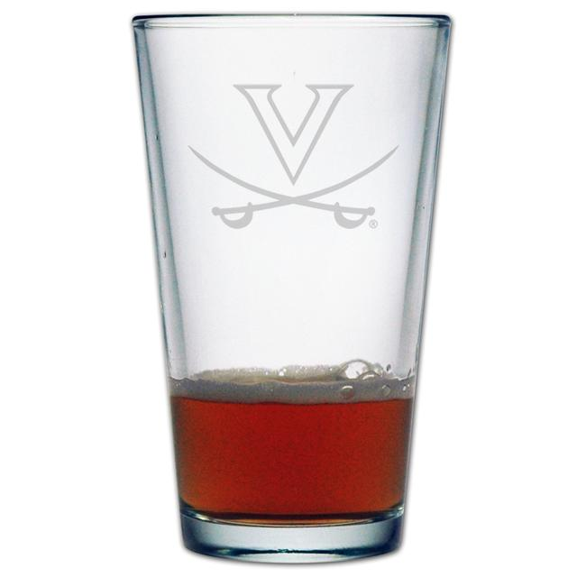 UVA 16oz Etched Pint Glass