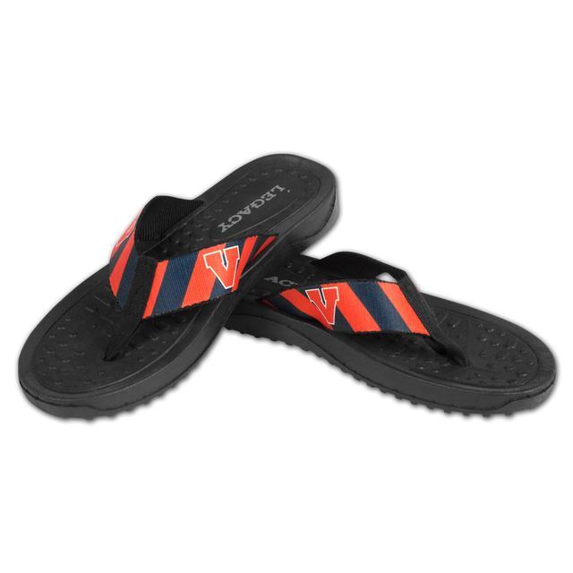 UVA Mens Beachcomber Sandals Prep Stripe