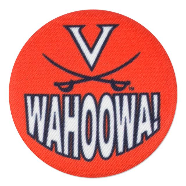 UVA Wahoowa! Fabric Fan Buttons