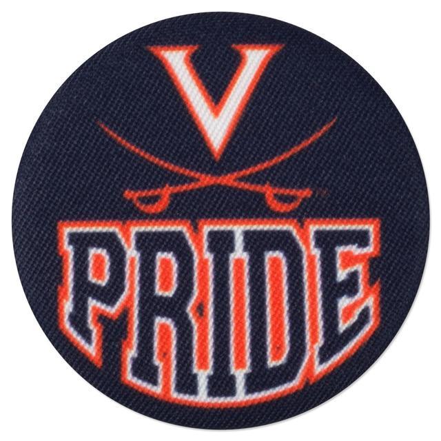 UVA Pride Fabric Fan Buttons