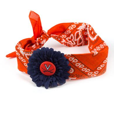 UVA Daisy Flower Bandana Headband