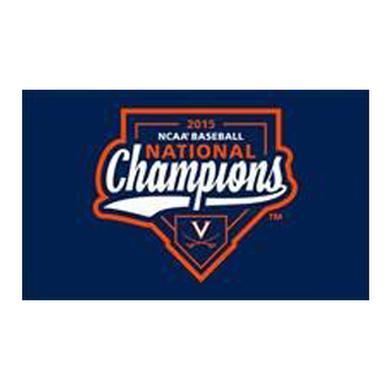 UVA CWS Champions Replica On-Field Flag