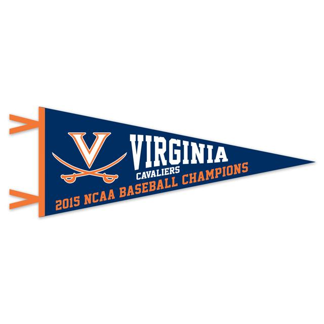 "UVA CWS Champions Premium 12"" x 30"" Pennants"