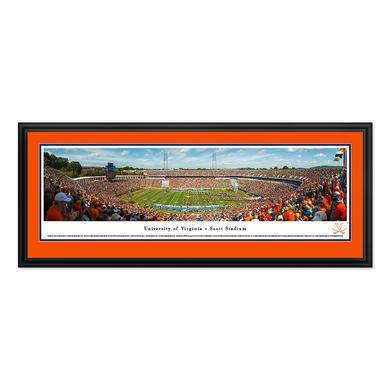 "UVA Scott Stadium Deluxe Framed Panorama 18""x44"""