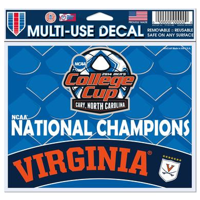 UVA Men's Soccer NCAA Champions Decal