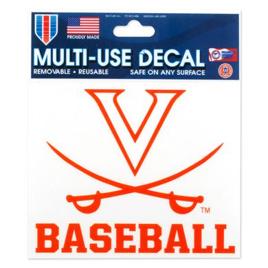 UVA Baseball 3 x 4 Multi Use Decal