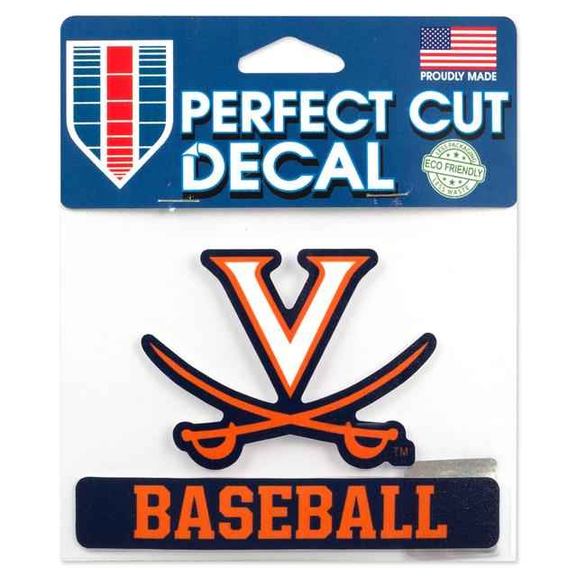 UVA Baseball 5 x 4 Perfect Cut Decal