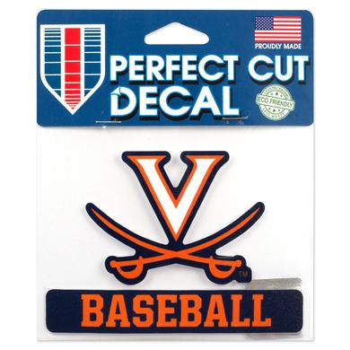 UVA Baseball 5 x 4 Perfect Cut Decal