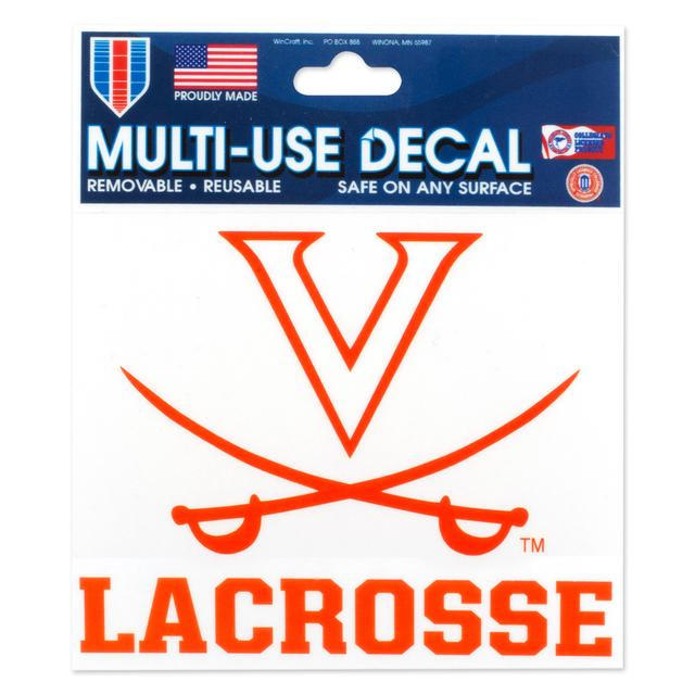 UVA Lacrosse 3 x 4 Multi Use Decal