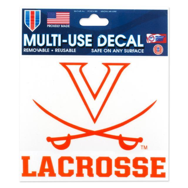 UVA Lacrosse 3 x 4 Multi Use Decal