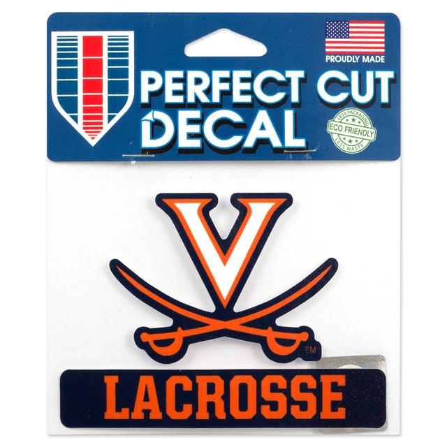 UVA Lacrosse 5 x 4 Perfect Cut Decal