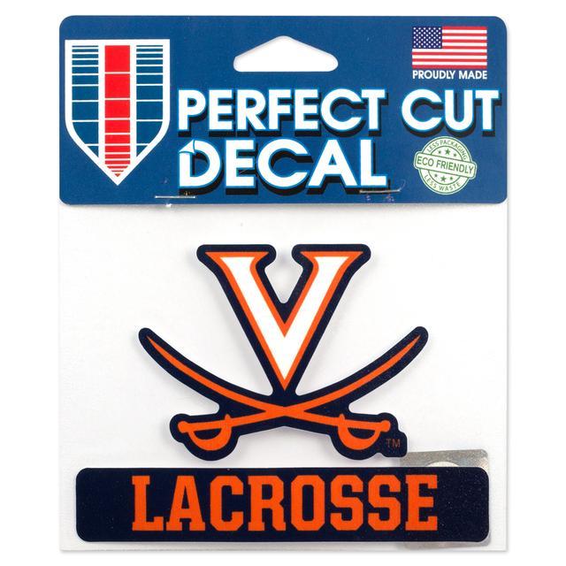 UVA Lacrosse 5 x 4 Perfect Cut Decal