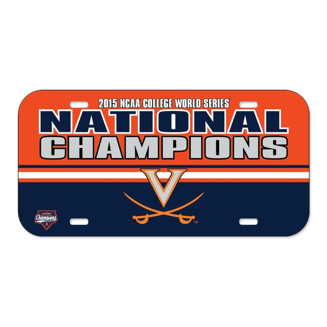 UVA CWS Champions Crystal Mirror License Plate