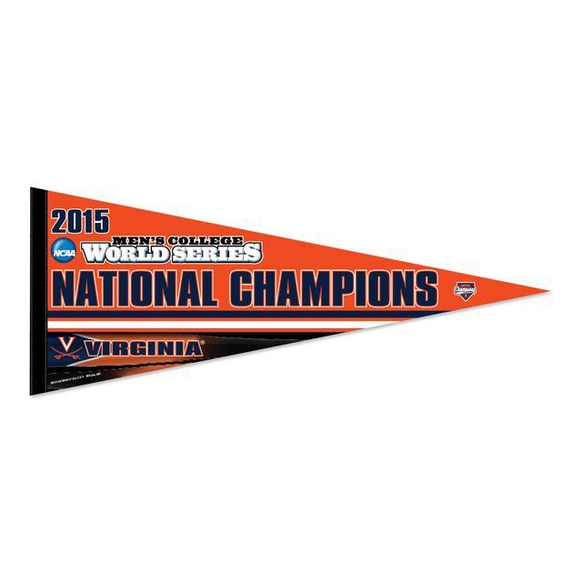 """UVA CWS Champions Premium Pennant 12"""" x 30"""""""