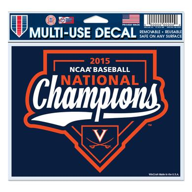 "UVA CWS Champions 4.5"" x 6"" Multi-Use Decal"