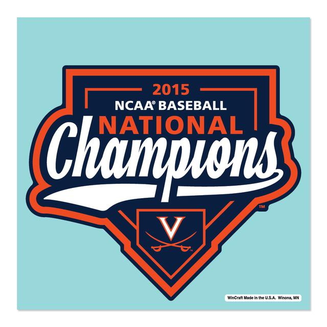 "UVA CWS Champions 4"" x 4"" Perfect Cut Decal"