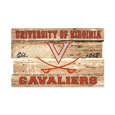 "UVA Athletics University of Virginia Cavaliers Plank Sign - 19"" x 30"""