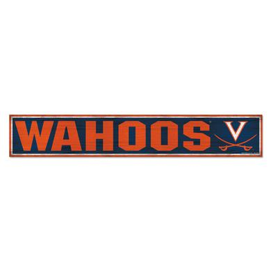 "UVA Athletics University of Virginia Wahoos Wood Sign - 6"" x 36"""
