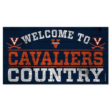 "UVA Athletics University of Virginia Welcome to Cavaliers Country - 13"" x 24"""