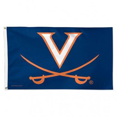UVA Athletics University of Virginia V-sabre Deluxe Flag - 3' x 5'