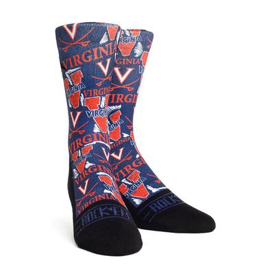 UVA Athletics University of Virginia Logo Adult Socks