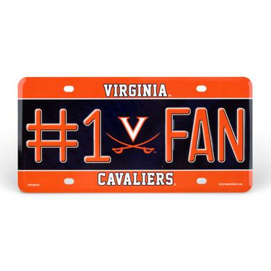 UVA Athletics University of Virginia #1 Fan License Plate