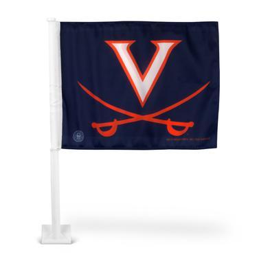 UVA Athletics University of Virginia Car Flag