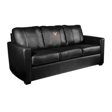 UVA Athletics Virginia Cavaliers Collegiate Silver Sofa