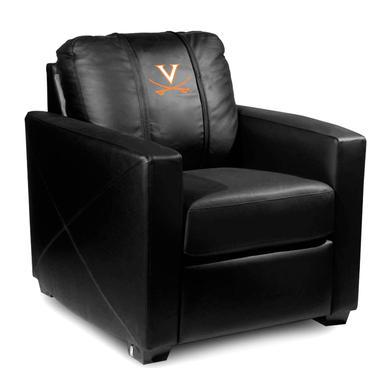 UVA Athletics Virginia Cavaliers Collegiate Silver Chair