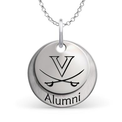 UVA Athletics University of Virginia Cavaliers Alumni Necklace - Sterling Silver