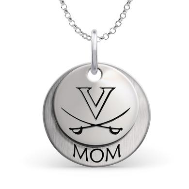 UVA Athletics University of Virginia Cavaliers MOM Necklace - Sterling Silver