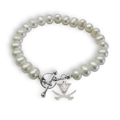 UVA Athletics University of Virginia Cavaliers Freshwater Pearl Bracelet