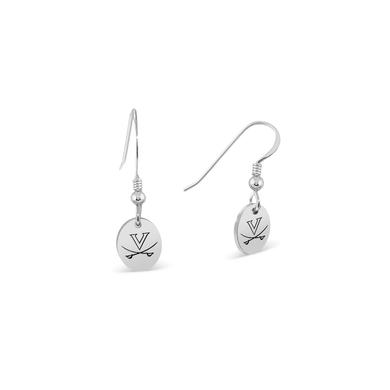 UVA Athletics University of Virginia Cavaliers Oval Earrings - Sterling Silver