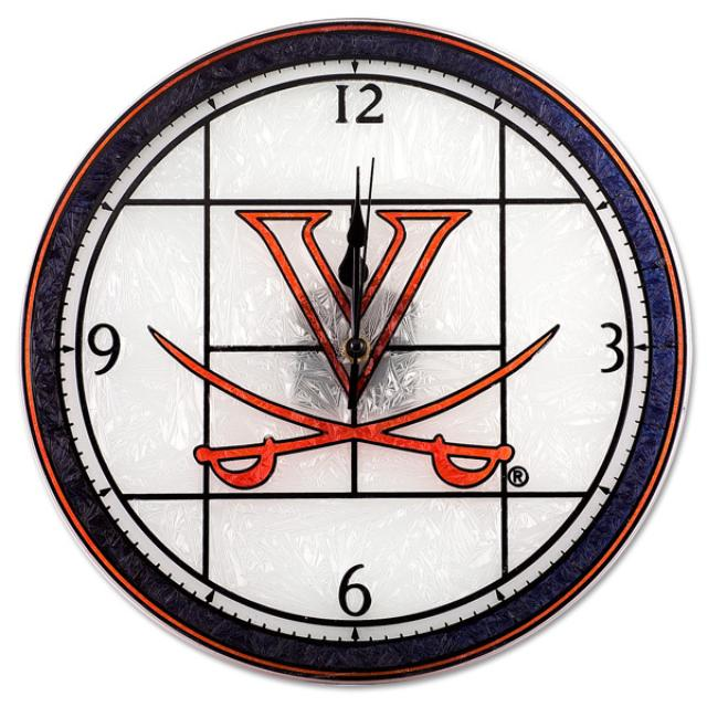 UVA Art Glass Clock