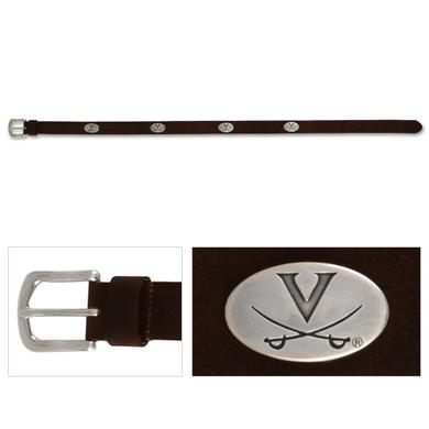 UVA Kids Leather Emblem Belt