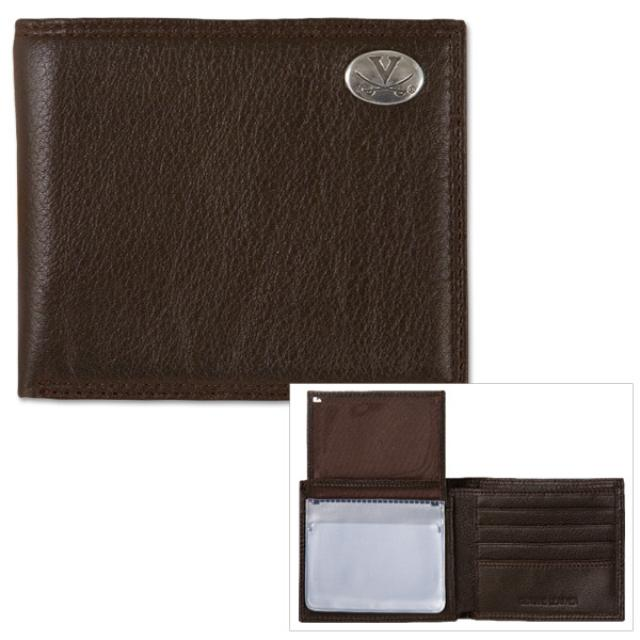 UVA Pebble Grain Leather Passcase Wallet